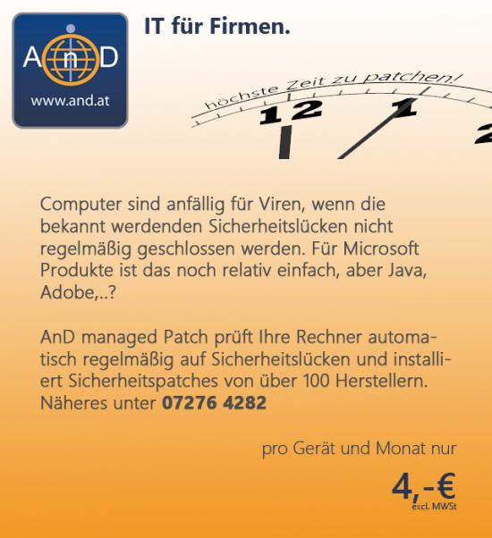 Patchmanagement von AnD - automatisch sicher, immer aktuell.